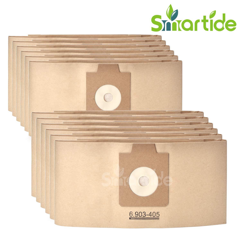 smartide 12 pezzi Sacchetti/Micropile Sacchetti per aspirapolvere in microfibra/sacchetti per aspirapolvere per Kä rcher 6.903 –  405, 6.904 –  118, 6.906 –  118 T201, T251 6.904-118