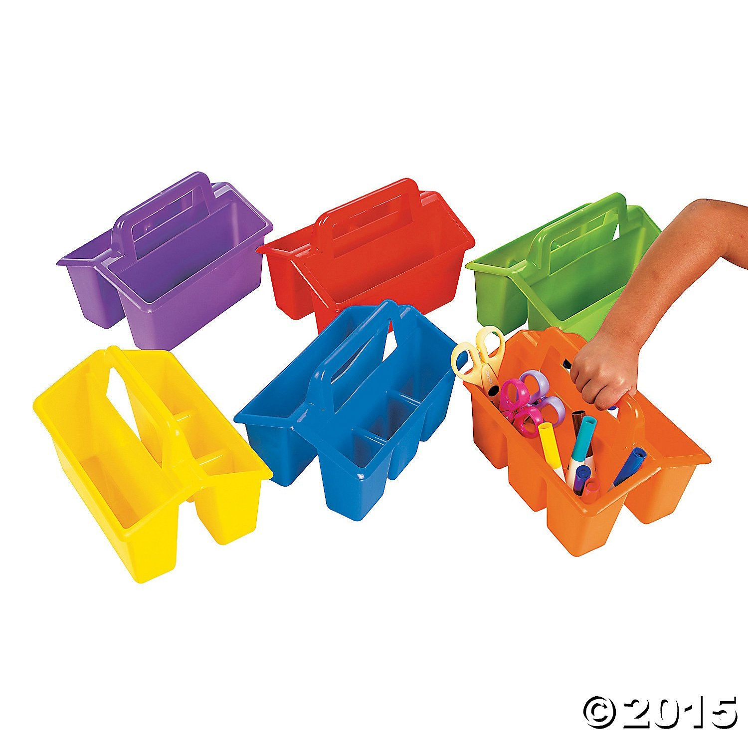 Awesome Table Caddy Set Part - 7: Amazon.com : Classroom Storage Caddies - Office Fun U0026 Office Stationery By  Oriental Trading Company, 6 Pack (Colors May Vary) : Office Products