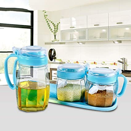 DHG Botella para condimentos Cajas de condimentos para plásticos, Cajas de condimentos de Vidrio,