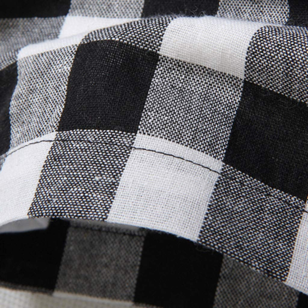 ReooLy♂Manches Courtes Hommes en Treillis /à Carreaux Peinture Grande Taille Casual Top Blouse Chemises
