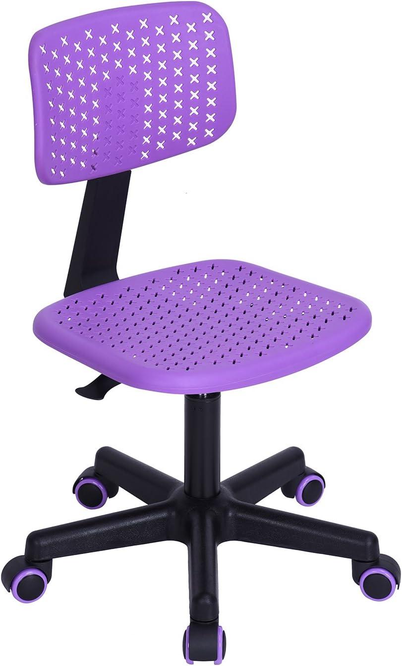 Amazon Com Homycasa Purple Hollow Design Swivel Home Office Chair Plastic Computer Desk Chair Best Christmas Gifts For Children Furniture Decor
