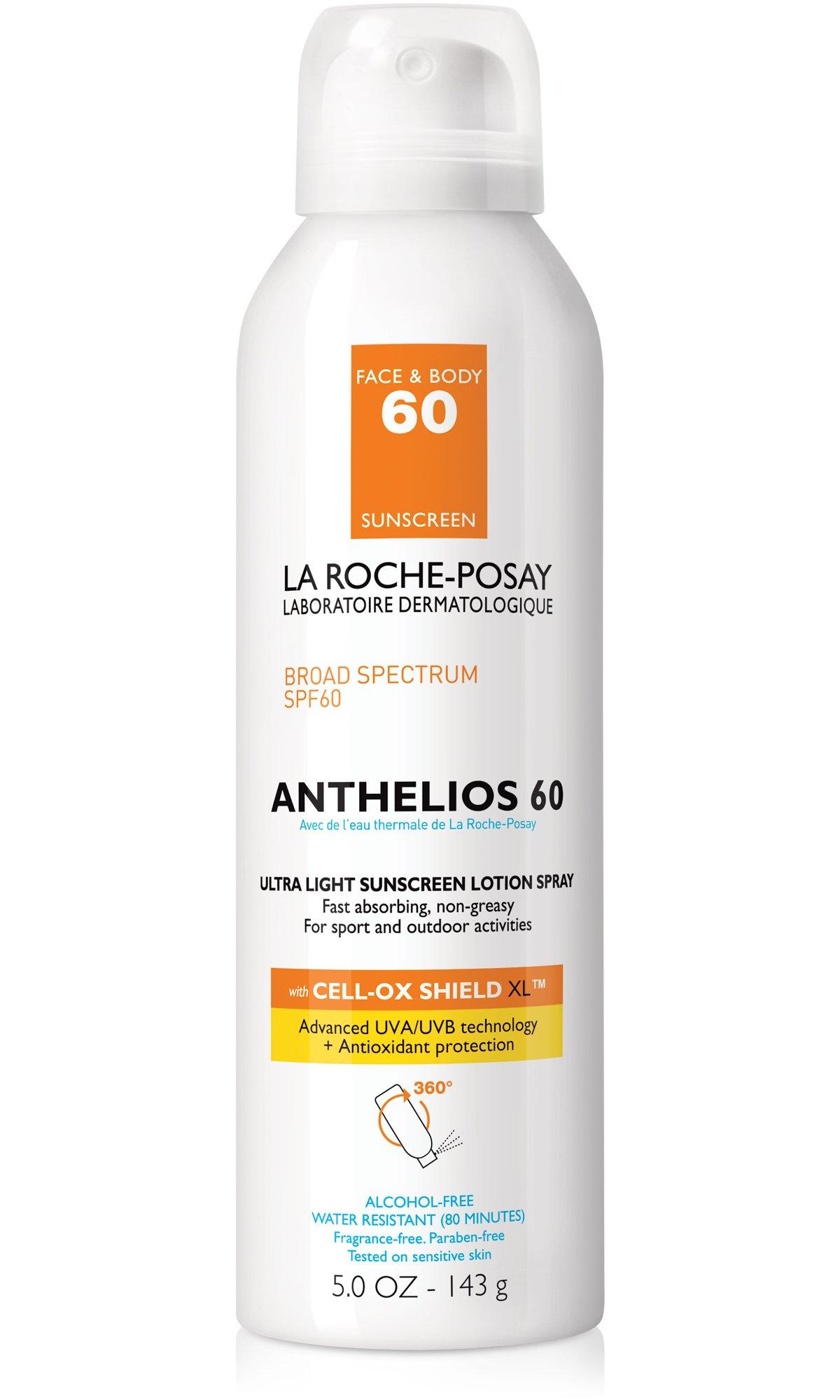 La Roche-Posay Anthelios Ultra-Light Sunscreen Spray Lotion SPF 60, 5 Fl. Oz. by La Roche-Posay