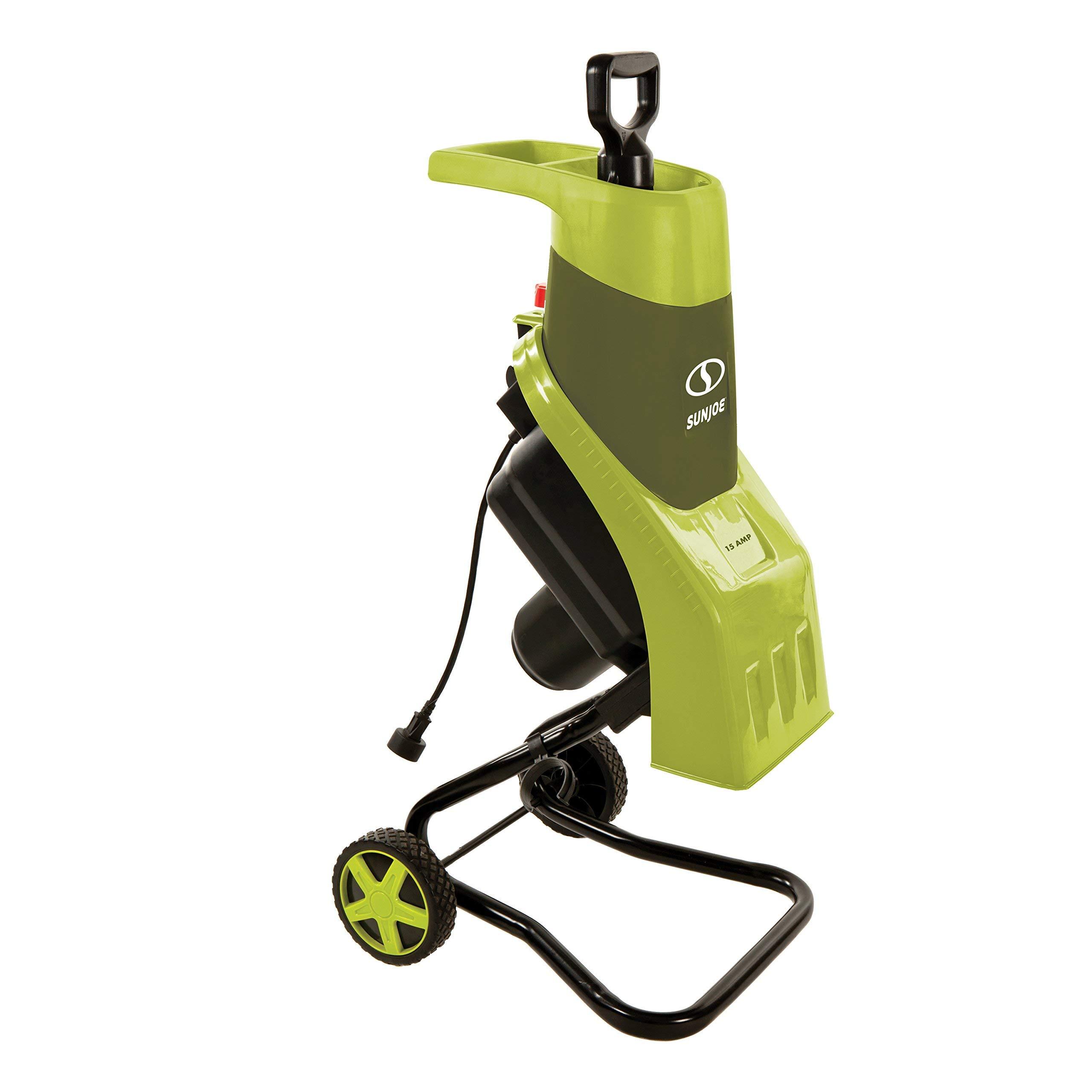 Sun Joe CJ602E 15-Amp Electric Wood Chipper/Shredder, Green (Renewed)