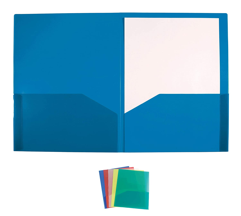 Cartellette 2 Tasche Blu Conf 10 Pz.