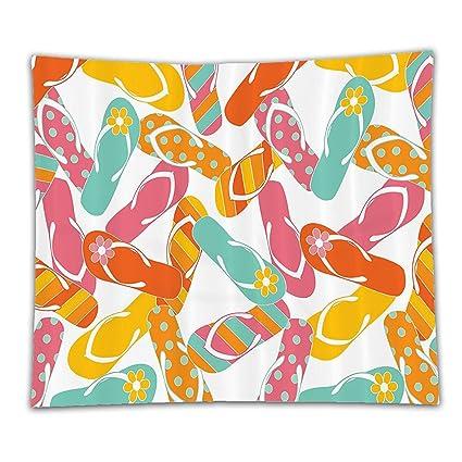 Amazon Beshowereb Fleece Throw Blanket Summer Colorful Bunch Beauteous Flip Flop Throw Blanket