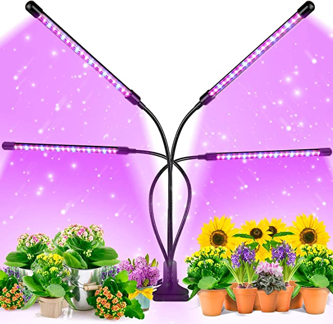 Amazon.com: EZORKAS Grow Light, 80W Tri Head Timing 80 LED 9 Dimmable Levels Plant Grow Lights for Indoor Plants with Red Blue Spectrum, Adjustable Gooseneck, 3 9 12H Timer, 3 Switch Modes: Home Improvement