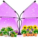 EZORKAS Grow Light, 80W Tri Head Timing 80 LED 9 Dimmable Levels Plant Grow Lights for Indoor Plants with Red Blue…