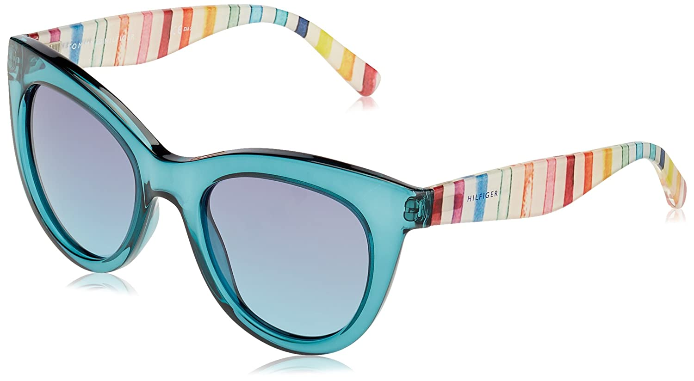 Tommy Hilfiger Damen Sonnenbrille TH 1480/O/S JF Mvu, Türkis (Azure/Blue Aqua), 51