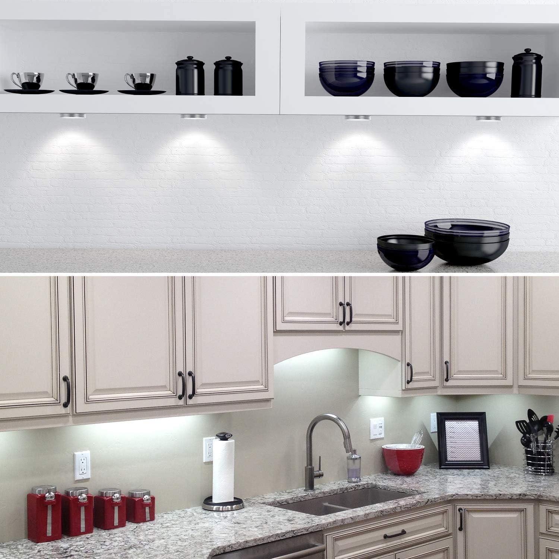 Onforu 17er Set LED Unterbauleuchte mit 17 Farbmodi, 17-stufig