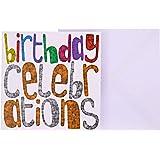 J&G Greeting Cards Birthday Celebrations Card - Multi Color