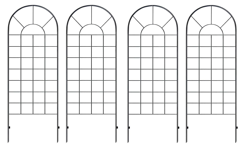 クラシックハイフェンス ハイタイプ(全高220cm) ブラック アイアン 4枚セット YBIF-220-2PX2 B0083QTPDQ 220cm (4枚セット)  220cm (4枚セット)