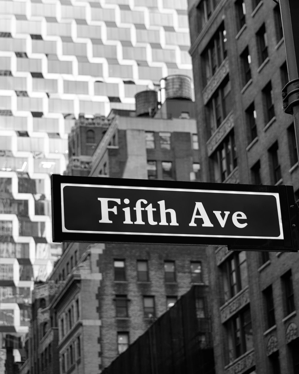 Amazon Com New York Manhattan Street Sign Picture Ny City Office Decor Black And White Art Handmade