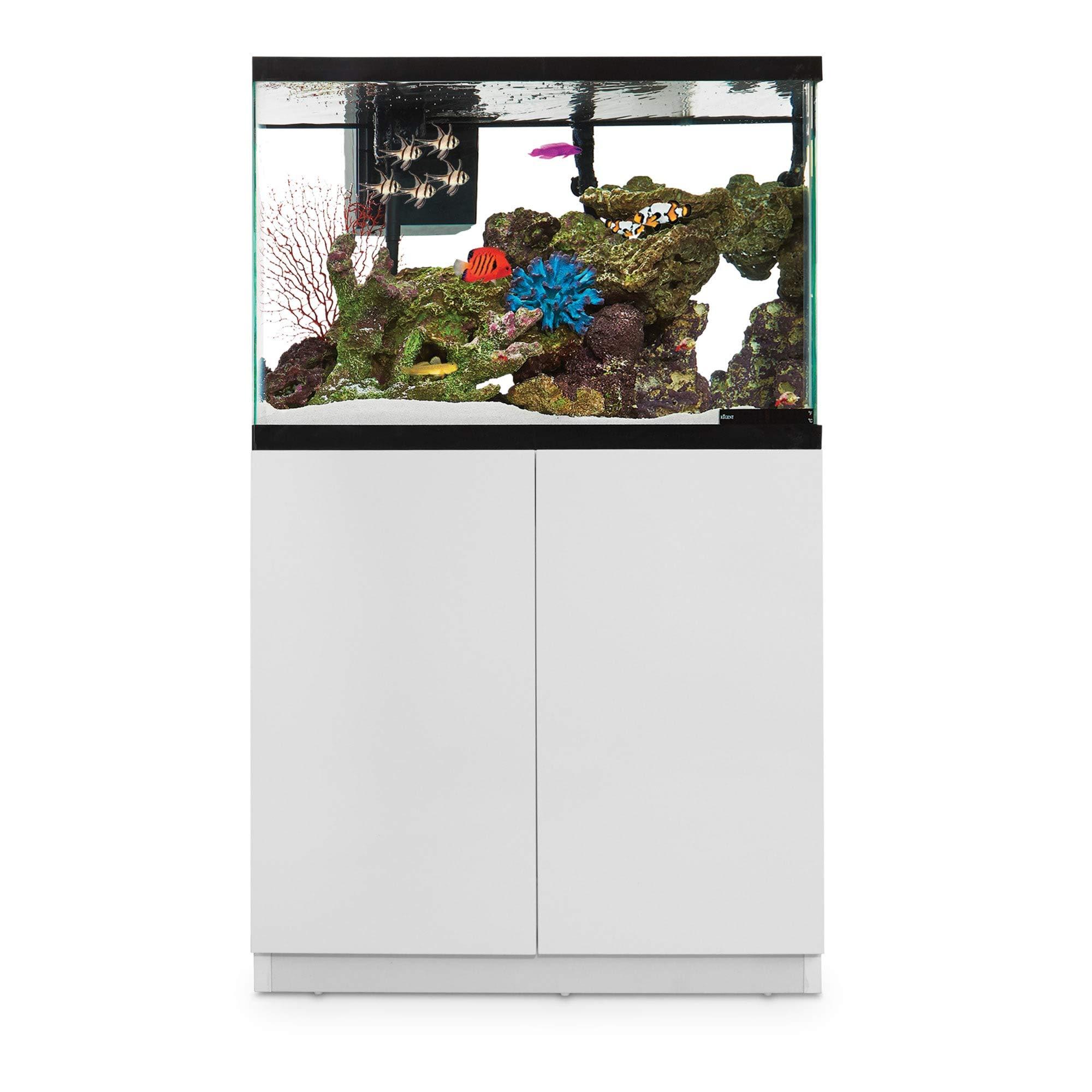 Imagitarium White Gloss Fish Tank Stand, Up to 40 Gal.