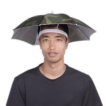 Pesca de paraguas plegable sol senderismo golf camping Headwear Cap cabeza sombreros al aire libre