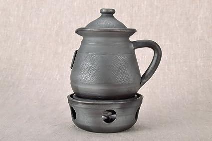 Cafetera cerámica con un – Hornillo para vela hechos a mano ...