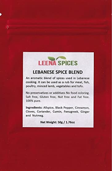 LEENA SPICES - Lebanese Seasoning 7 Seven Spice Blend – Middle Eastern  Fresh Mix - Gluten Free –