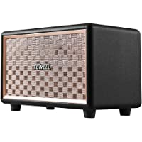 Bluetooth Speakers with 3.5mm AUX Input, Volume Knob, Toggle Switch, Deep Bass and Loud Sound (Black)