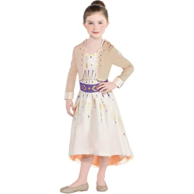 Party City Anna Act 1 Halloween Costume for Girls, Frozen 2, Includes Dress: Clothing