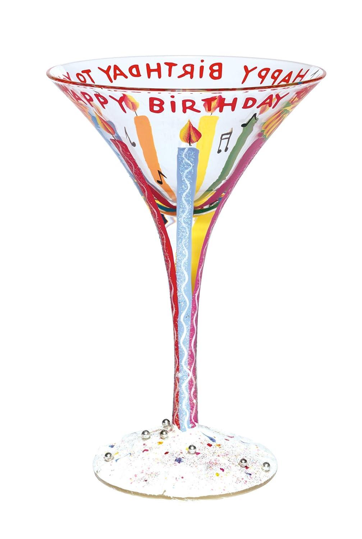 Lolita Love My Martini Glass, Happy Birthday Santa Barbara Design Studio GLS4-5580C BA4636:3009420
