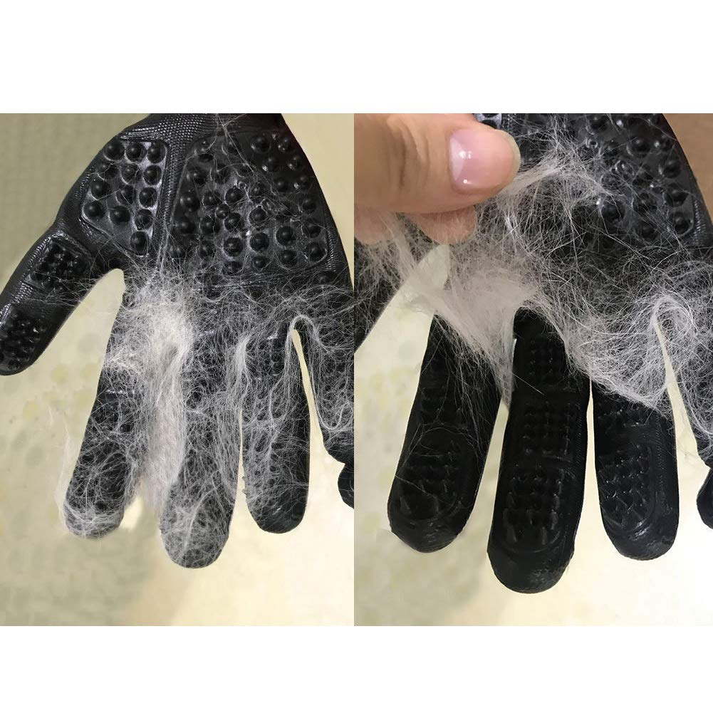 MMTX Pet Massage Gloves - 1 Pair Rubber Deshedding Brush Glove Pets Hair Remover Mitts Pet Bath Grooming Massage Tool for Cats and Dogs with Long & Short Fur by MMTX (Image #4)