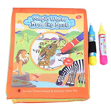 Libro de Tela para bebés, Dibujo de Agua Suave para bebés ...