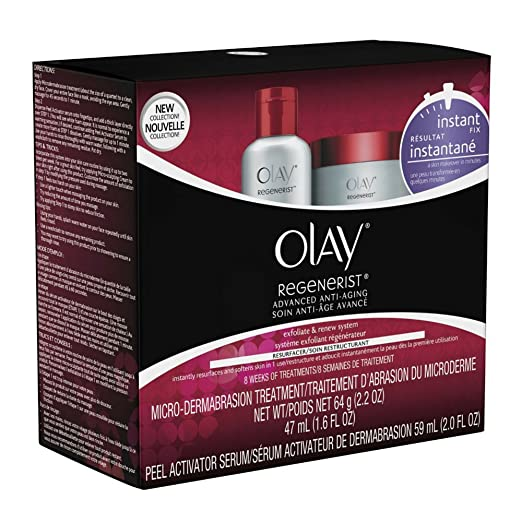 Amazon.com: OLAY Regenerist Microdermabrasion & Peel System 1 Each (Pack of 3): Beauty