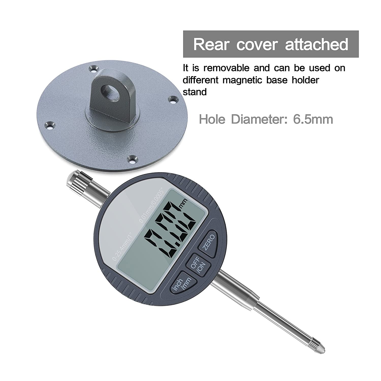 DTI Digital Dial Indicator ASEL 0.01//.0005 Digital Probe Indicator Dial Test Gauge Range 0-25.4mm//1 Dial Test Indicators Electronic Indicator Gauge