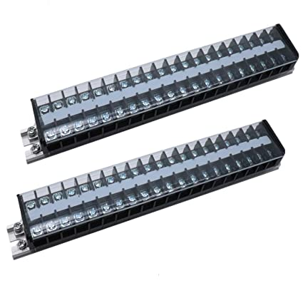 Amazon com: Yootop 2Pcs 20Positions 2 Rows DIN Rail Screw