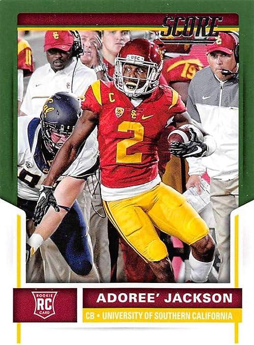 Amazon.com: 2017 Score Rookies Green Football #392 Adoree' Jackson ...