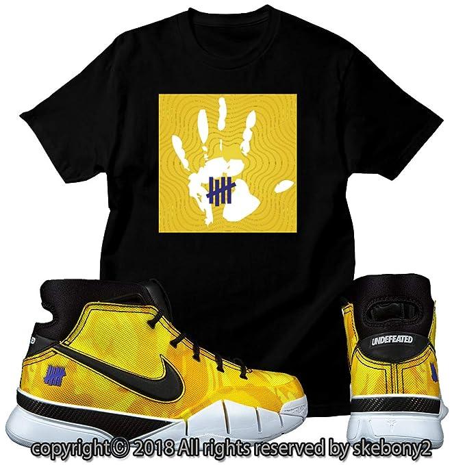 d30bb8667f445 Custom T Shirt Matching Style of Nike Kobe 1 PROTRO Undftd PE LA NKO 1-2-14  at Amazon Men s Clothing store