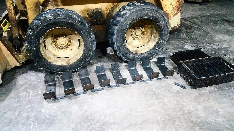 Skid Steer Loader Over Tire Steel Tracks Ott 10x16 5 Tires 12x16