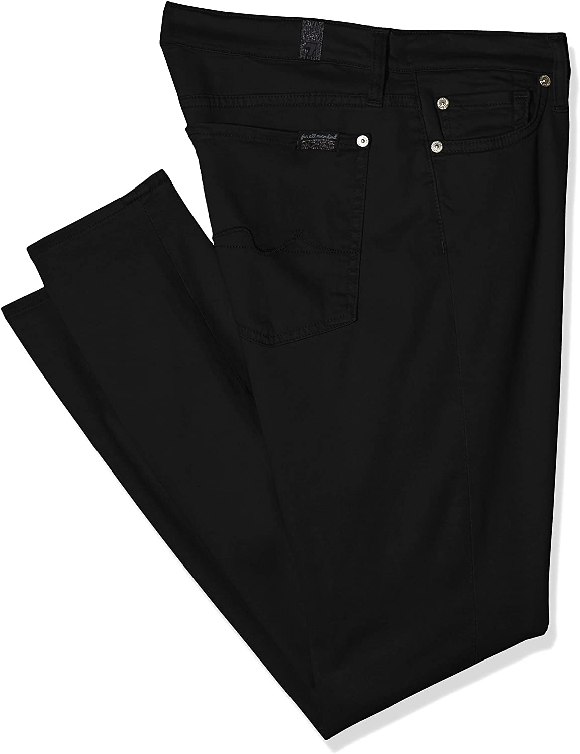 7 For All Mankind Damen The Crop Skinny Jeans Schwarz (Black Xh)