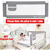 Color : Pink, Size : 150cm JAZC-Bed Guard Bed Guard Toddler Safety Kids Bedguard Baby Folding Mesh Rail Toddler Safety Bed Rail Foldable Baby Bed Gate Rail