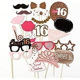 Oblique Unique Geburtstags Scharpe Sweet Sixteen Alles Gute Zum