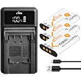 Pickle Power NP-BY1 Battery(3 Pack) and Charger Compatible with Sony NP BY1 EN-EL11 Li-60B DLi-78 DB-L70 DB-80 and Sony Actio