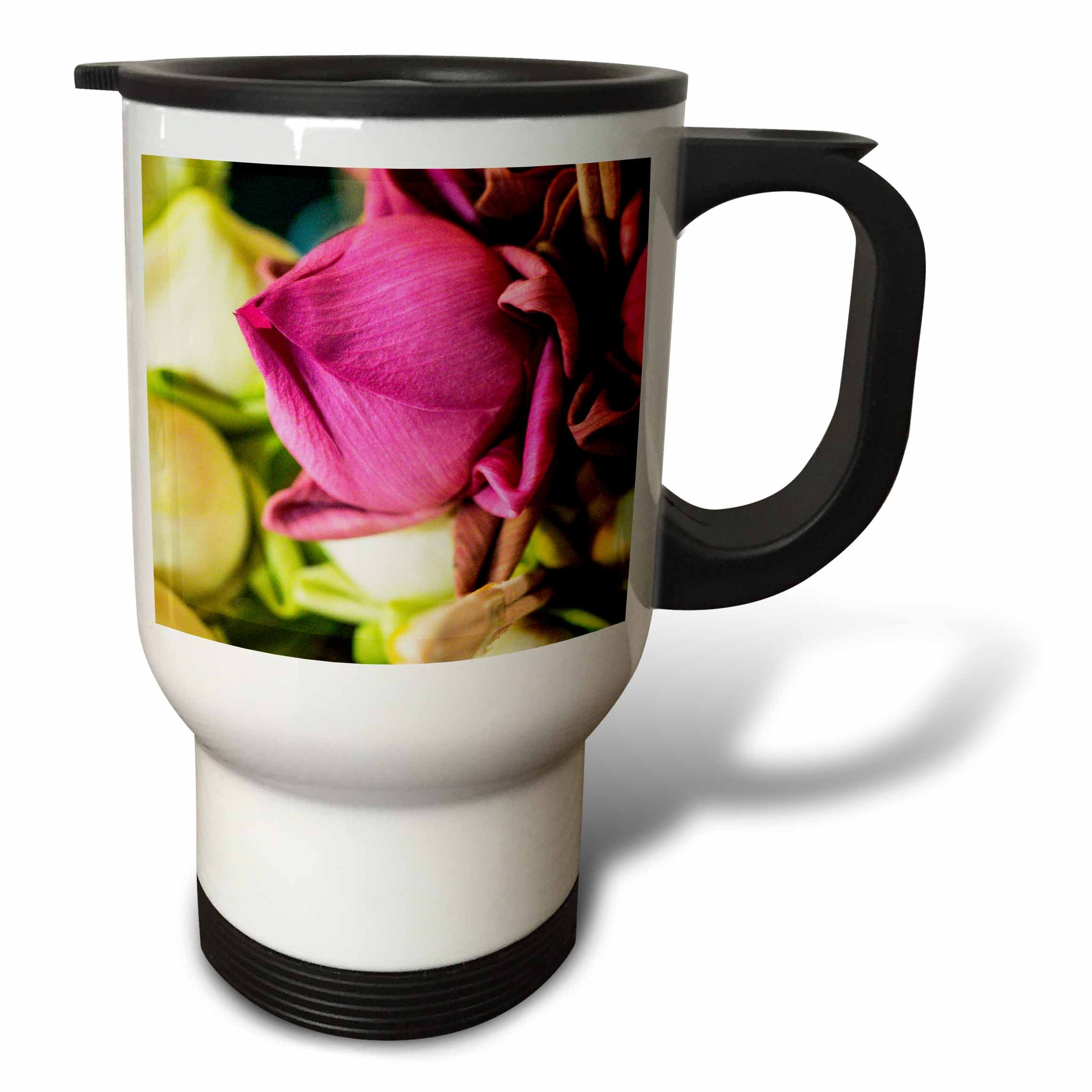 3dRose Danita Delimont - Flowers - Thailand, Chiang Mai, Flowers at the Thai Market Place - 14oz Stainless Steel Travel Mug (tm_276974_1) by 3dRose