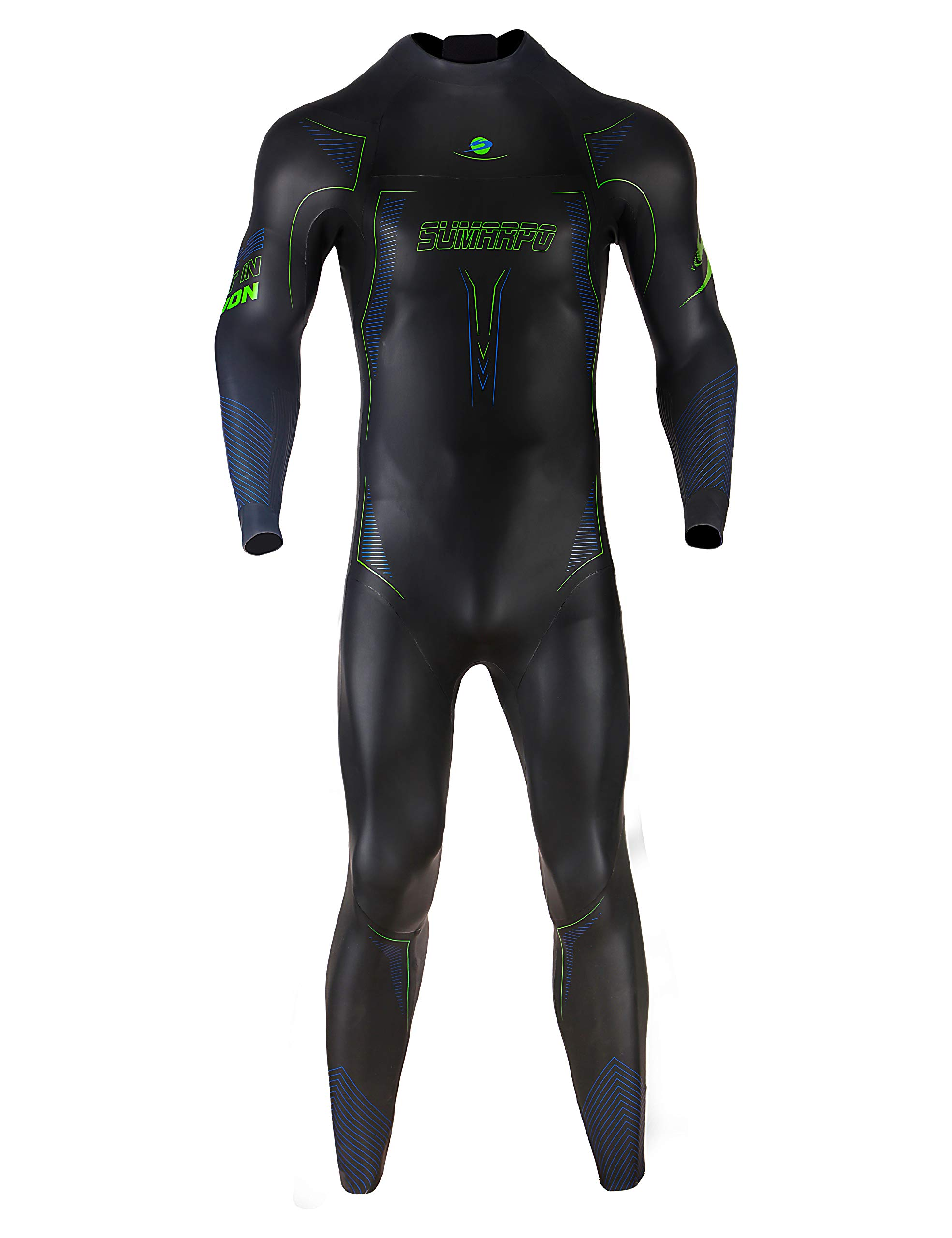 SUMARPO Triathlon Wetsuit Men N-Joy Full Body Dry Suits Yamamoto Smoothskin Neoprene Ironman Suit for Open Water Swimming