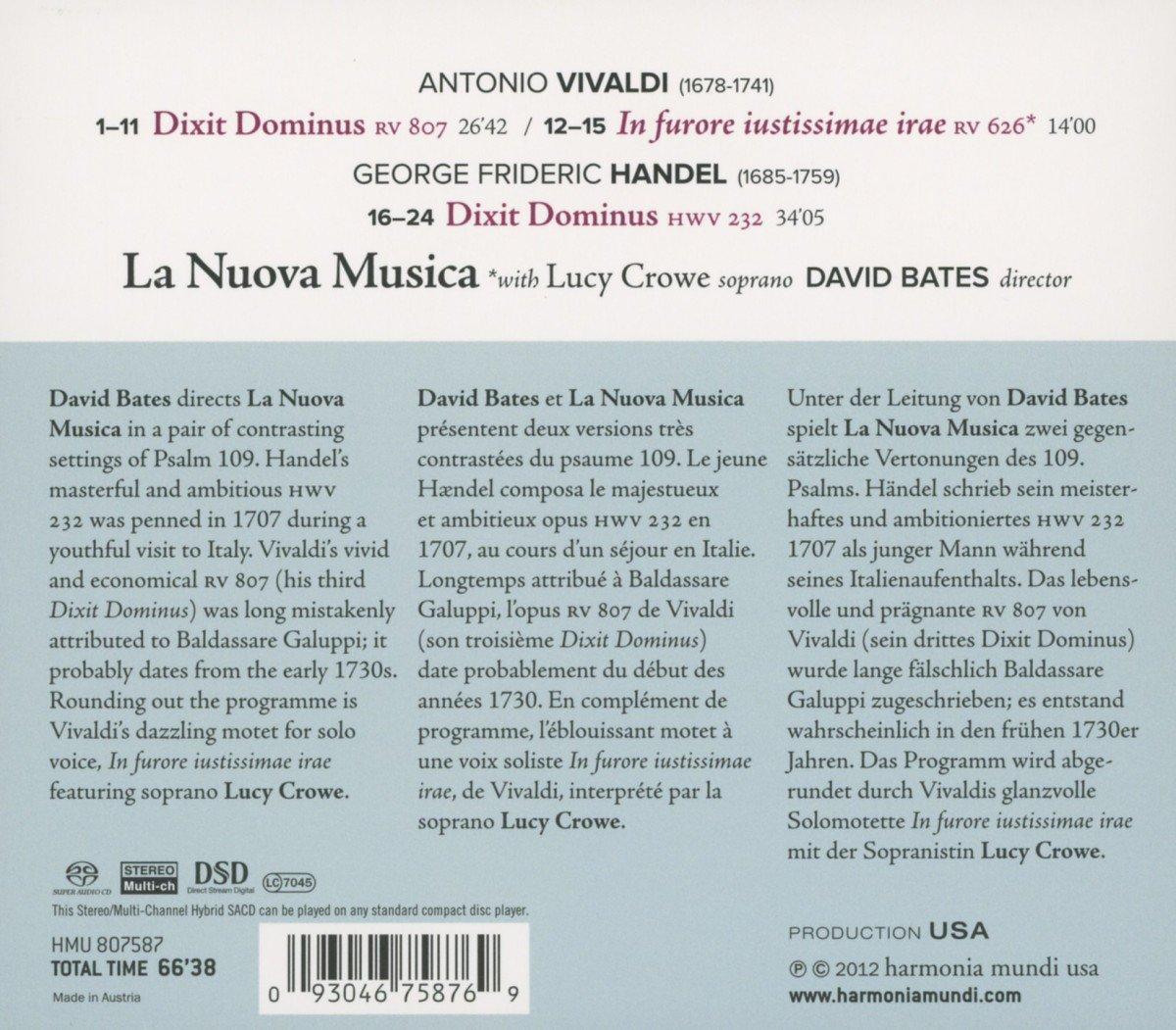 Dixit Dominus : La Nuova Musica, Handel: Amazon.es: Música