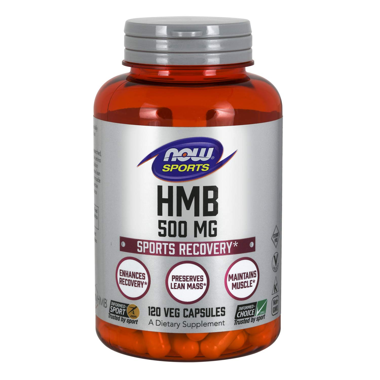 NOW HMB, 500 mg, 120 Veg Capsules