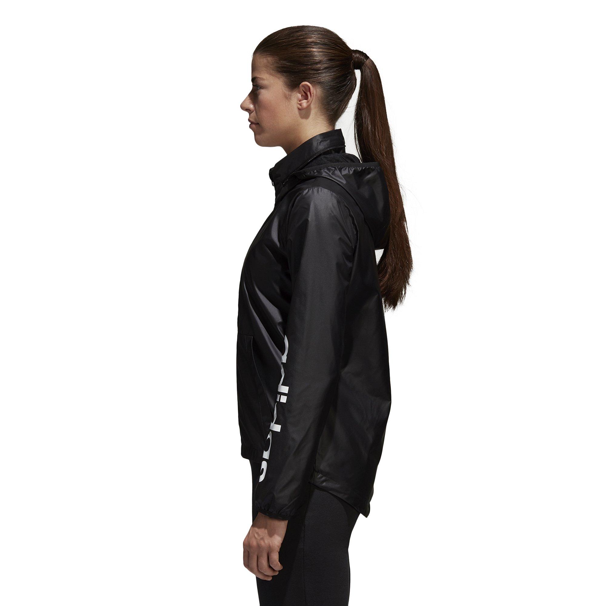 adidas Women's Linear Windbreaker Jacket, Black, Large by adidas (Image #5)