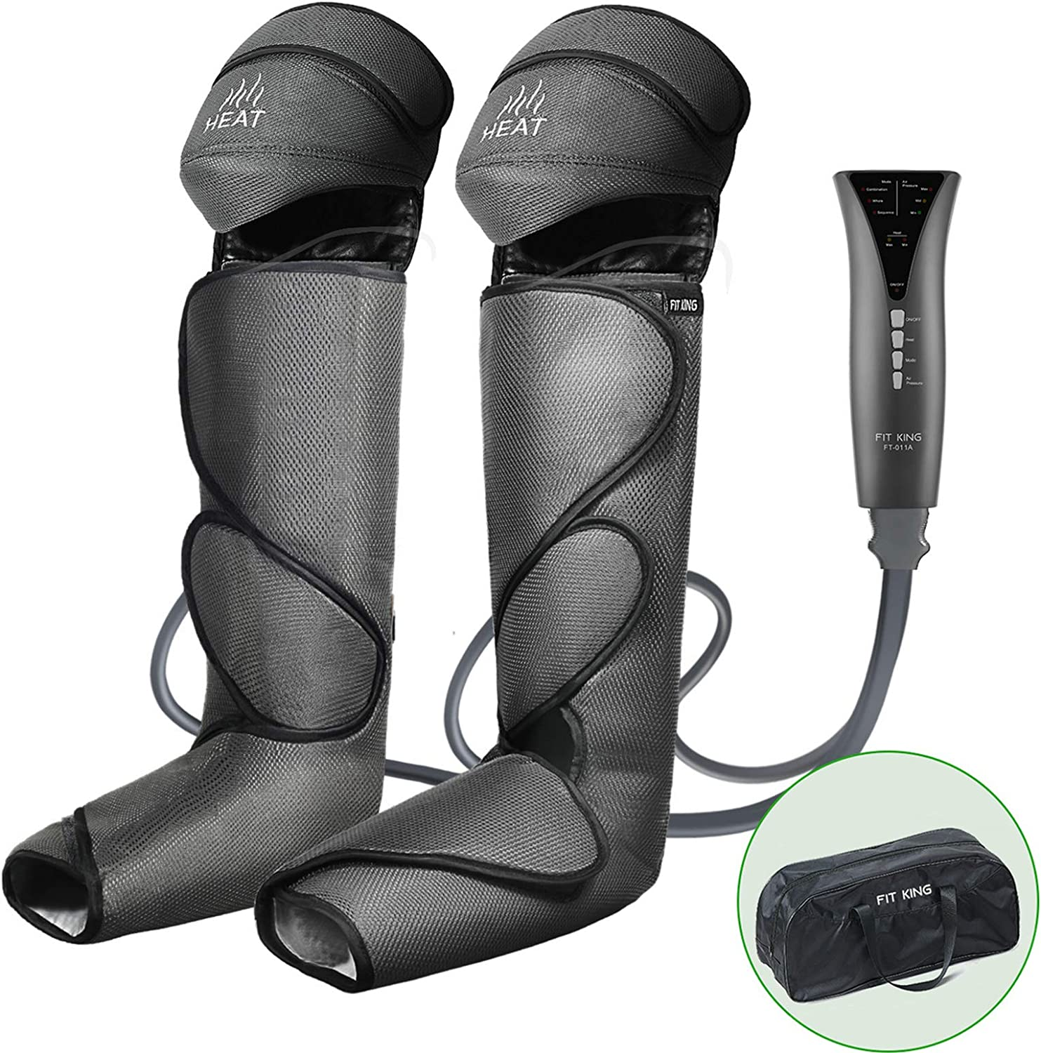 B07RLW6QN7 FIT KING Foot and Leg Massager for Circulation with Knee Heat with Hand-held Controller 3 Modes 3 Intensities FT-011A 71Zx8Inj32L.SL1500_