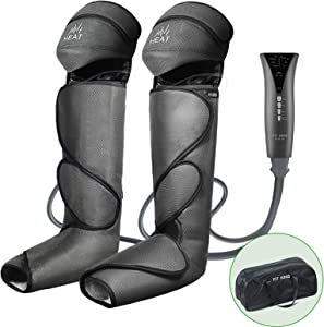 FIT KING Foot and Leg Massager for Circulation with Knee Heat with Hand-held Controller 3 Modes 3 Intensities FT-011A