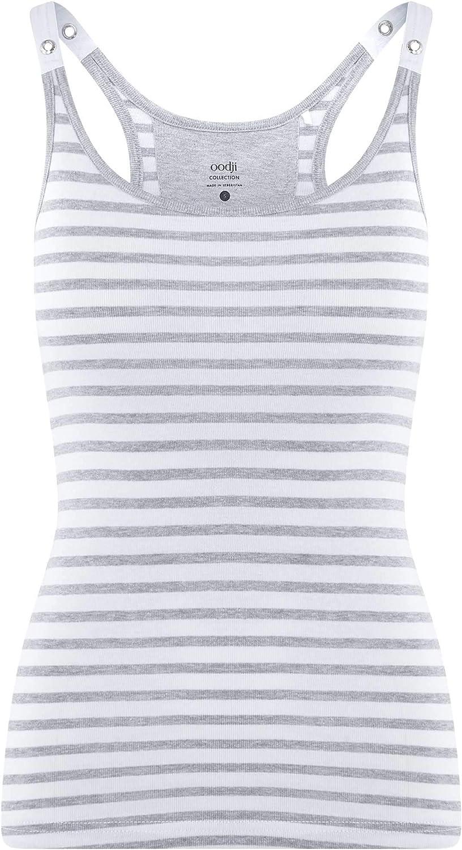 oodji Collection Mujer Camiseta Nadadora con Ojales en los Tirantes