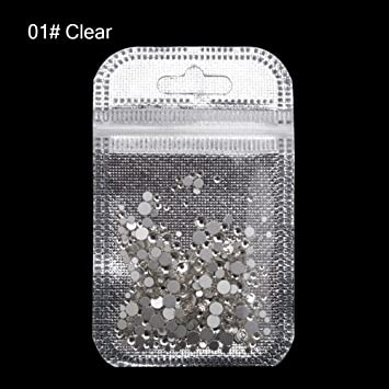 MIOBLET 300 Piece Mix Size SS3-SS20 Crystal Nail Rhinestones Top Grade  Clear Nail Gems 711ff8cffbd8