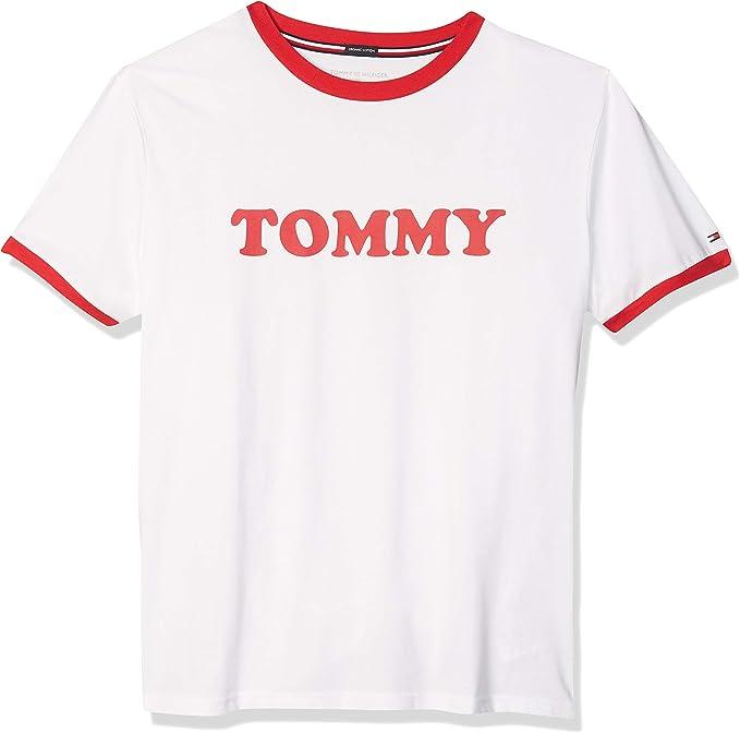 Tommy Hilfiger Cn SS tee Logo Top de Pijama para Hombre