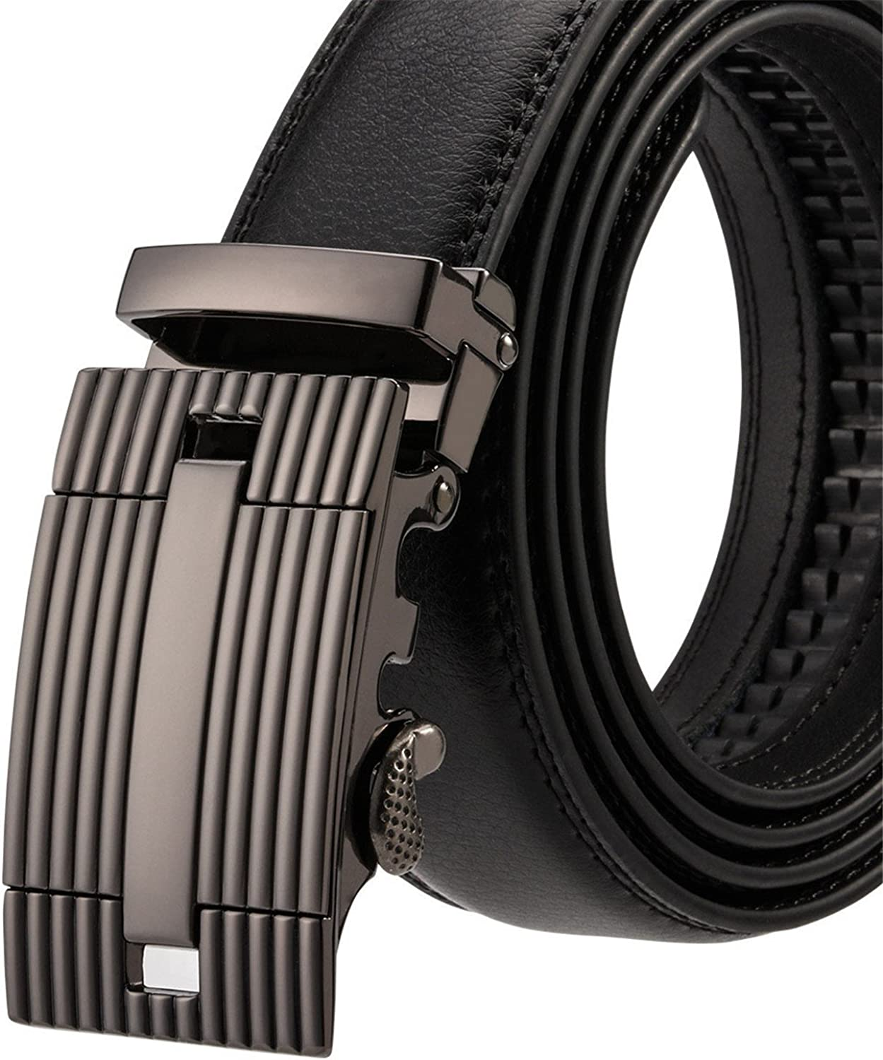 OnIn?Fashion?Leather Belt Men NEW Luxury Genuine Leather Designer Brand Waist Strap Automatic Buckle Male Belts for Men
