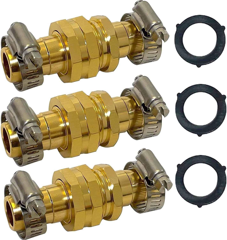 Garden Hose Repair Kit [3 Pack] | Hose Connectors with Clamps, Male and Female Garden Hose Fittings | Hose Mender Adapter | Hose End Repair | Soaker Hose Repair Kit | 3/4