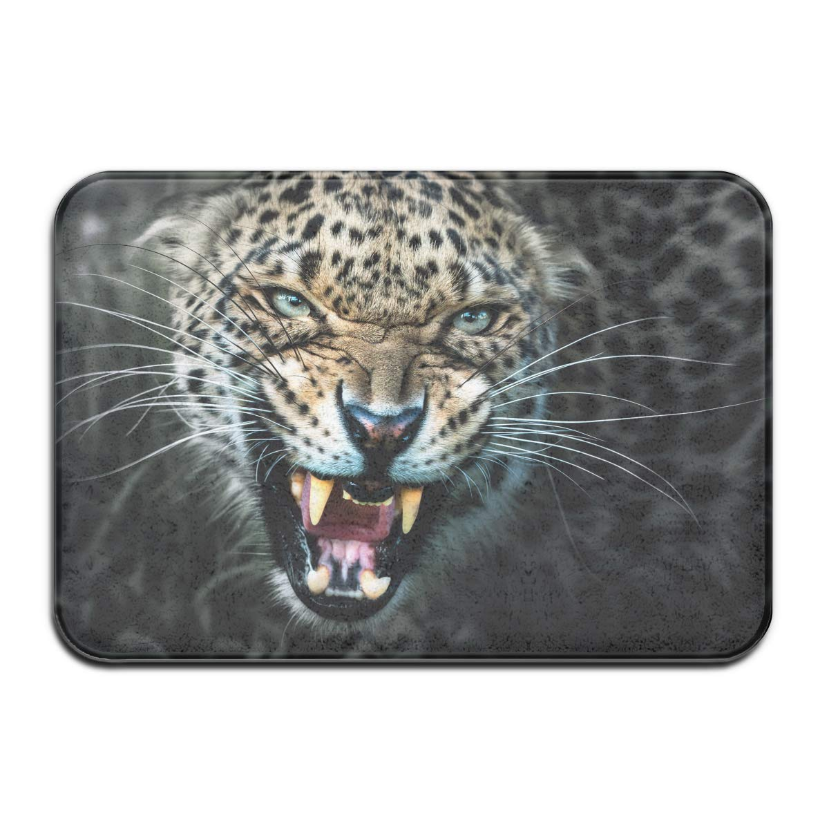 Roaring Leopard Bathroom Non-Slip Wild Animal Home Decor Bath Mat Rug Carpet