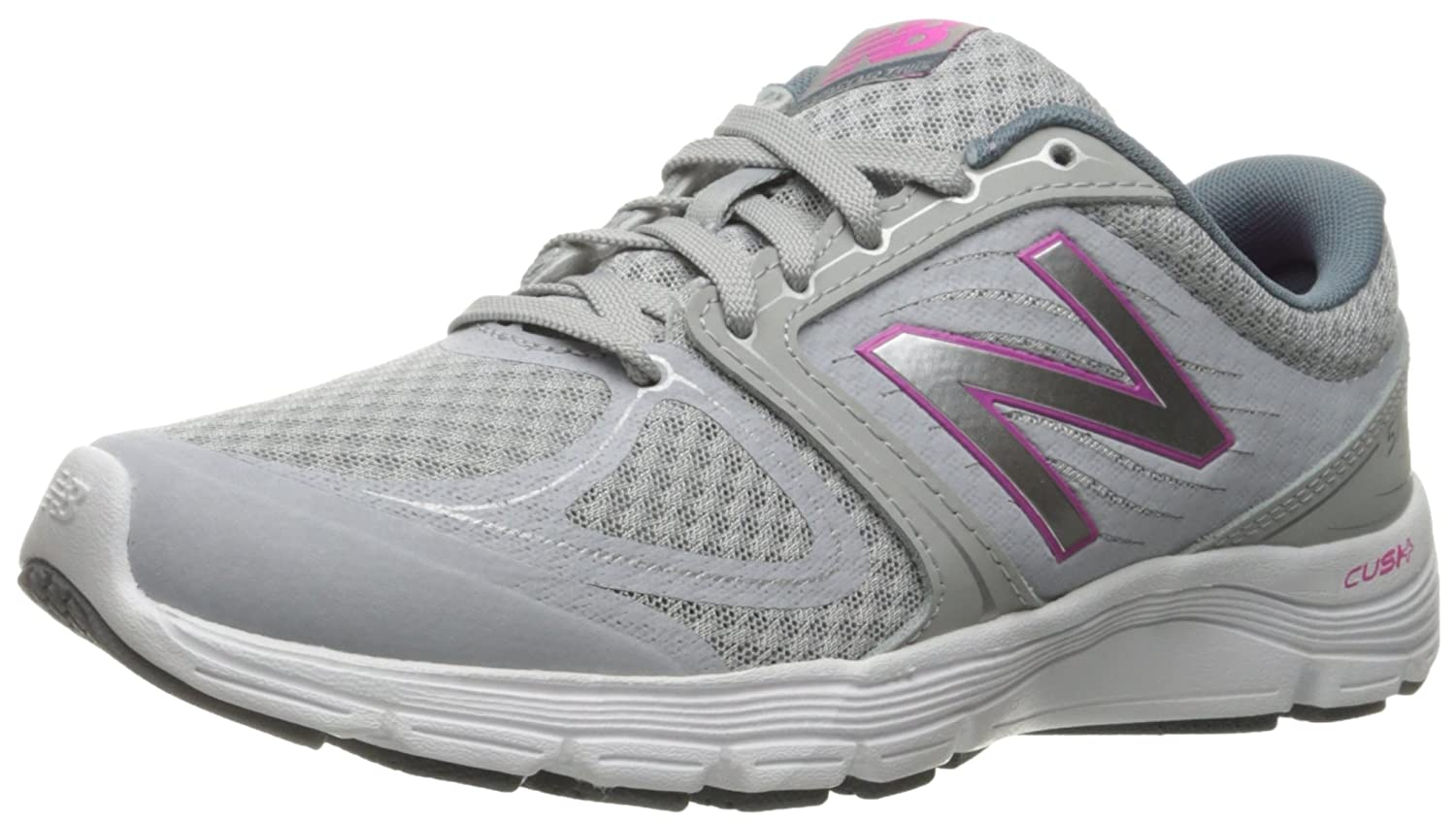 New Balance Women's 575v2 Comfort Ride Running Shoe B01943IKMS 10 D US|Metallic Silver/Blue