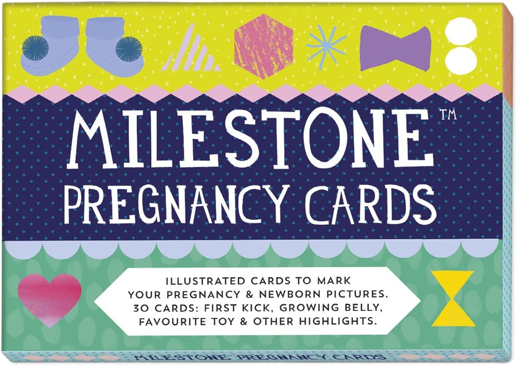 Cards to photograph your pregnancy milestone memories Milestone Pregnancy Cards